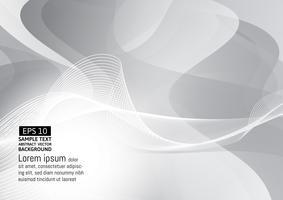 Fondo geometrico grigio e bianco astratto di progettazione moderna, illustrazione eps10 di vettore