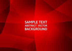 Progettazione moderna di tecnologia astratta del fondo del poligono di colore rosso, illustrazione di vettore