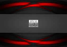 Progettazione moderna del fondo astratto geometrico rosso e nero con lo spazio della copia per il vostro affare, illustrazione di vettore