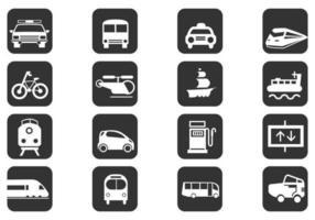 Pacchetto di icone di vettore di trasporto