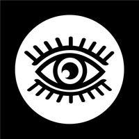 Icona di segno dell'occhio vettore