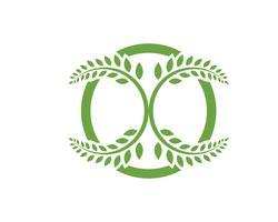 icona di foglia verde natura elemento vettoriale