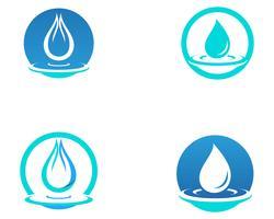 Icona di vettore di goccia d'acqua