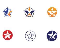 Progettazione dell'illustrazione dell'icona di vettore di logo della stella