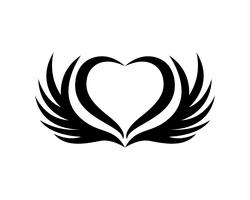 Le ali dell'uccello firmano le icone astratte del modello app