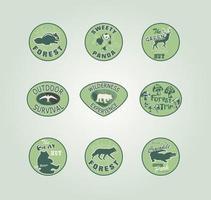 pacchetto di vettore di distintivo animale foresta