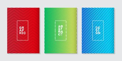 Set di sfondo minimo copre design astratto mezzitoni sfumatura linea modello astratto. Modello geometrico futuro.