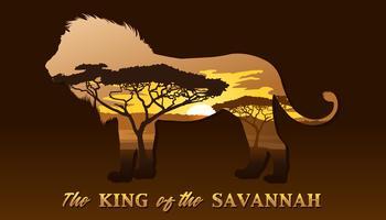 Il re della savana vettore