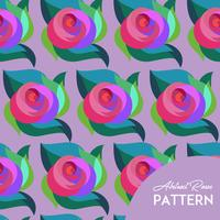 Abstract Rose Pattern vettore