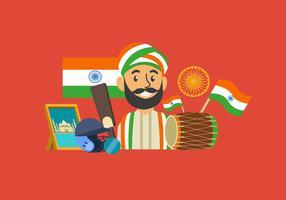 Celebrando l'illustrazione di vettore di giorno dell'Indipendenza dell'India