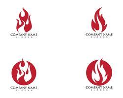 modello di logo fiamma di fuoco