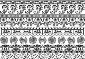 Pacchetto di vettore di bordo ornamentale