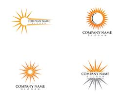 Illustrazione vettoriale Icona Logo Template Sun over horizon