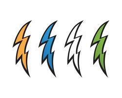 Vettore delle icone di colpo di fulmine dell'istantaneo del fulmine