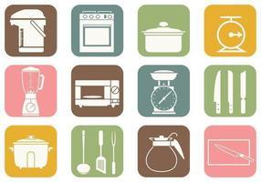 Cucina e cucina icone vettoriali