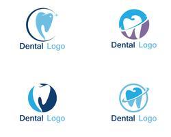 Logo e simbolo di cure odontoiatriche vettore