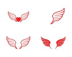 Icona di vettore del modello di Logo dell'ala di Falcon