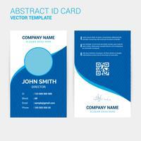 Modello di progettazione di carta d'identità creativa astratta vettore