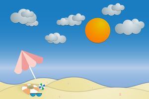 vista estate spiaggia e mare sfondo