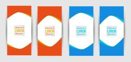 Design creativo astratto banner