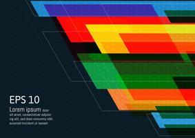 Fondo geometrico multicolore dell'estratto di progettazione moderna con lo spazio della copia, illustrazione di vettore