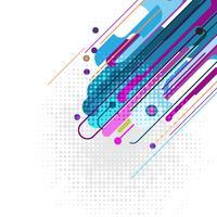 Priorità bassa astratta geometrica di vettore multicolore. Nuova trama di sfondo con lo spazio della copia