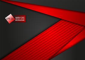 Fondo di progettazione moderna di tecnologia astratta dell'estratto di colore rosso e nero, illustrazione di vettore. per il tuo business