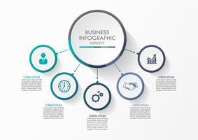 Circolo d'affari Icone infographic di cronologia progettate per modello astratto della priorità bassa