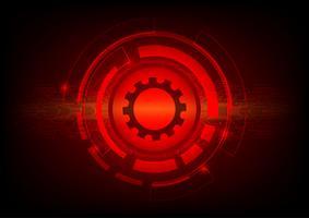 Concetto di tecnologia digitale del fondo dell'estratto di colore rosso. Illustrazione vettoriale