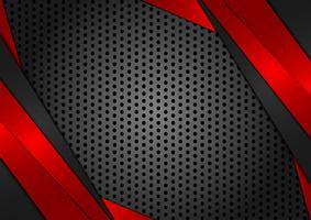 Vettore geometrico astratto sfondo rosso e nero. Texture design per il tuo business