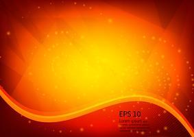 Il colore arancio e la luce geometrica leggera dell'illustrazione strutturano il fondo di vettore dell'estratto