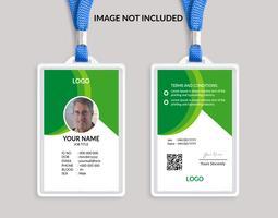 Modello di carta d'identità bella verde 17 vettore
