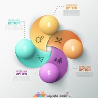 Banner di opzioni infografica moderna. vettore