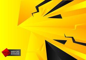 Fondo nero e giallo geometrico astratto di colore con lo spazio della copia, illustrazione eps10 di vettore