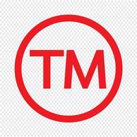 Illustrazione di vettore dell'icona di simbolo di marchio di fabbrica