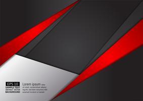Fondo di progettazione moderna di colore rosso e nero geometrico astratto, illustrazione di vettore. per il tuo business