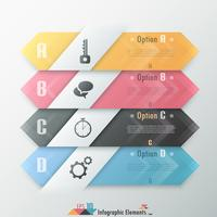 Banner di opzioni infografica moderna vettore