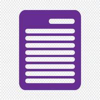 Illustrazione di vettore dell'icona della lavagna per appunti