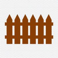 Illustrazione vettoriale di recinzione icona
