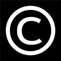 icona simbolo di copyright illustrazione vettoriale