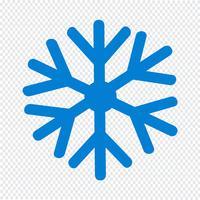 Illustrazione di vettore icona fiocco di neve