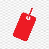 Tag icona illustrazione vettoriale