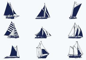 Pacchetto di vettore di nave a vela