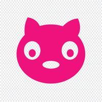 Illustrazione di vettore dell'icona del gatto