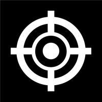 Illustrazione vettoriale di destinazione icona