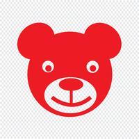 orso icona illustrazione vettoriale