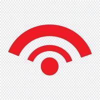 Illustrazione di vettore dell'icona di WIFI