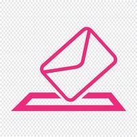 illustrazione vettoriale icona e-mail