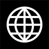Illustrazione vettoriale di globo terra icona