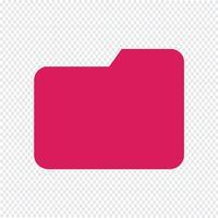 Illustrazione vettoriale di cartella icona